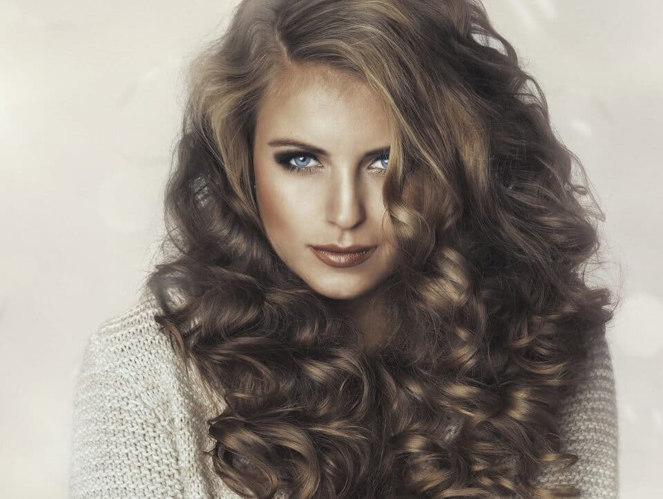 Loose Curling wand curls - 25mm