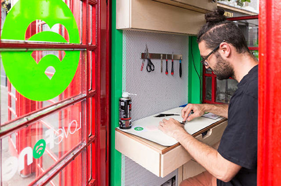 Lovefone Phone Repair Shops Inside Traditional Red Telephone Booths