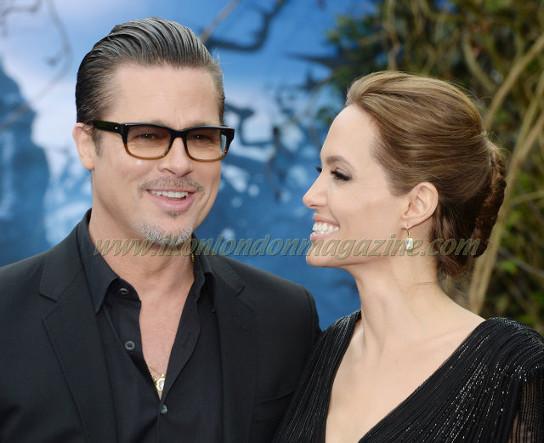 Brad Pitt and Angelina Jolie at the Maleficent screening in Kensington Palace © Joe Alvarez