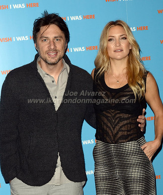 Kate Hudson & Zach Braff at the London press call of Wish I Was Here © Joe Alvarez