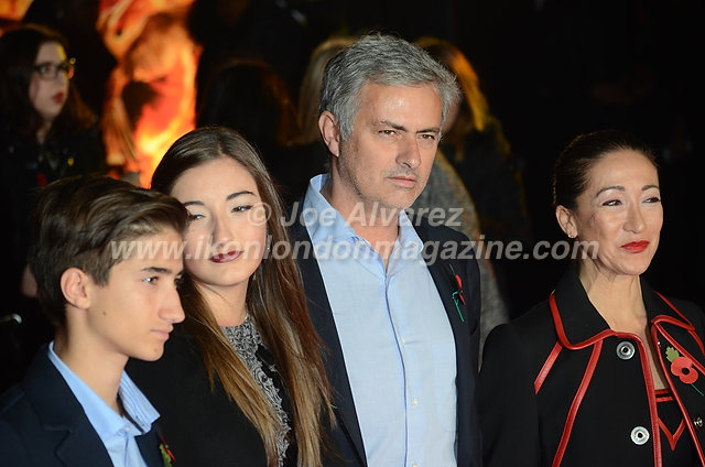 "Jose Mourinho at the London premiere of The Hunger Games ""Mockingjay - Part 1"" © Joe Alvarez"