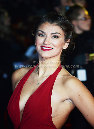 "Amy Willerton at the London premiere of The Hunger Games ""Mockingjay - Part 1"" © Joe Alvarez"