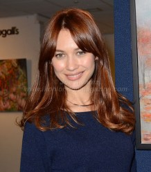 Olga Kurylenko at Marina Alyabusheva Exhibition © Joe Alvarez