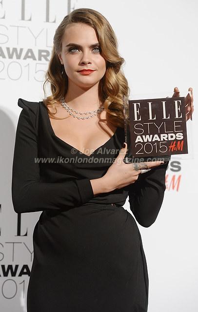 Cara Delevingne at the Elle Style Awards 2015 © Joe Alvarez