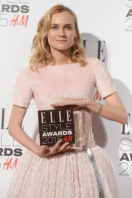 Diane Kruger attends the Elle Style Awards Awards at the Walkie Talkie Tower © Joe Alvarez