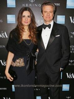 Livia Firth (L) and Colin Firth