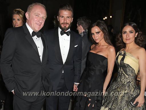 Francois Henri Pinault, David Beckham, Victoria Beckham & Salma Hayek