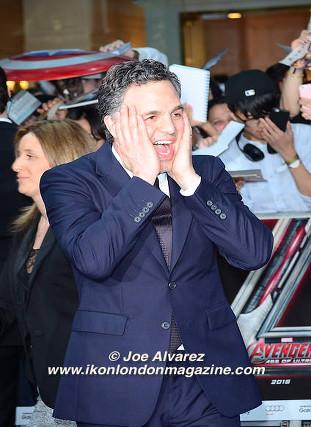 Mark Ruffalo arrives at the Avengers: Age Of Ultron UK Premiere © Joe Alvarez