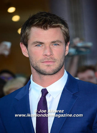Chris Hemsworth arrives at the Avengers: Age Of Ultron UK Premiere © Joe Alvarez