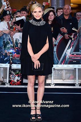Elizabeth Olsen arrives at the Avengers: Age Of Ultron UK Premiere © Joe Alvarez