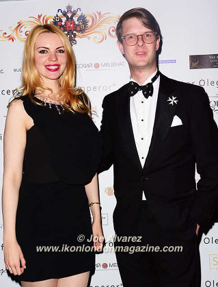 Eliza Izvelkova, Prince Rostislav Romanov,  The Russian Royal Charity Screening of the historical film 'Gentlemen Officers: Save the Emperor' at the Grand Ballroom of Luxury Hotel