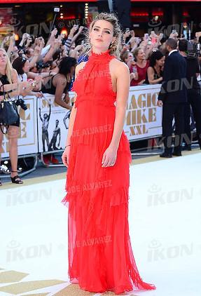 Amber Heard at the Magic Mike XXL European premiere, London © Joe Alvarez