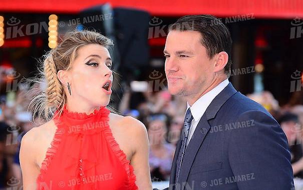Amber Heard and Channing Tatum at the Magic Mike XXL European premiere, London © Joe Alvarez