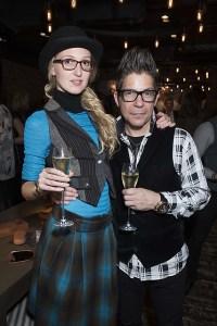 Tamara Orlova-Alvarez and Joe Alvarez at the Walter & Herbert Launch party