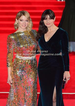 Lea Seydoux, Monica Bellucci at the World Premiere of Hames Bond Spectre at Royal Albert Hall © Joe Alvarez