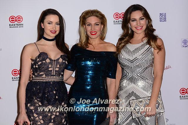 Emma Miler, Hofit Golan, Kelly Brook arrive at Eastern Season Gala at Madame Tussauds © Joe Alvarez.jpg