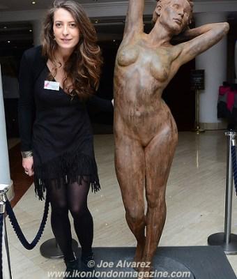Sculptor Margot Roulleau-Gallais Artrooms 2016 © Joe Alvarez