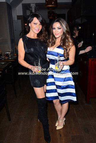 Lizzie Cundy and Casey Batchelor at UKAI Sushi launch in Noting Hill © Joe Alv arez