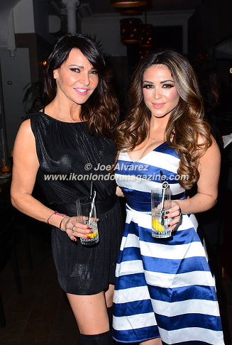 Lizzie Cundy and Casey Batchelor at UKAI Sushi launch in Noting Hill © Joe Alvarez