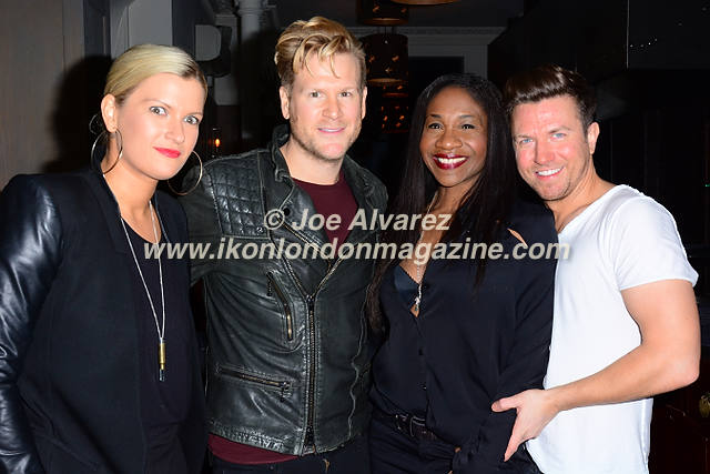 Sam Dowler, Karen Bryson at UKAI Sushi launch in Noting Hill © Joe Alvarez