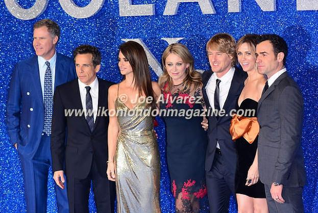 Will Ferrel, Ben Stiller, Penelope Cruz, Christine Taylor, Owen Wilson, Kristen Wiig at the London premiere of Zoolander 2 © Joe Alvarez
