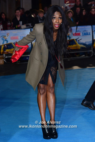 Sinitta Eddie The Eagel European Premiere © Joe Alvarez