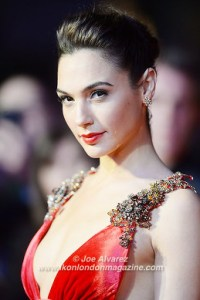 Gal Gadot attends the premiere of Batman v. Superman: Dawn Of Justice at Odeon, Leicester Square. © Joe Alvarez