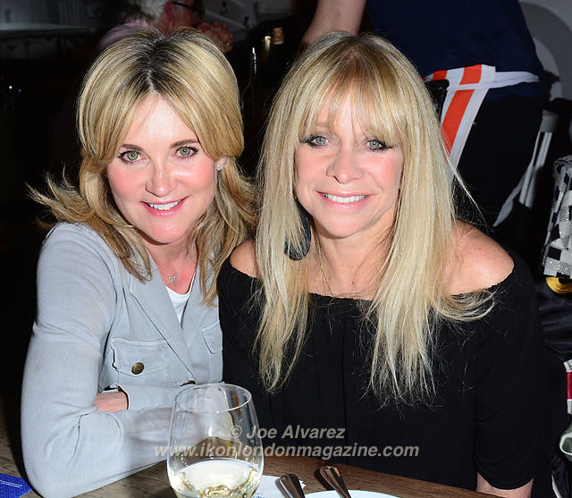 Anthea Turner, Jo Wood Gods of Greek Dining at The Real Greek © Joe Alvarez