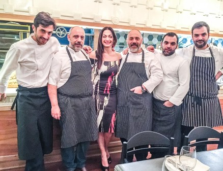 Tonia Buxton The Cookoovaya Restaurant Chefs Gods of Greek Dining at The Real Greek © Joe Alvarez