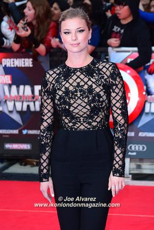 Emily VanCamp The Captain America: Civil War London premiere © Joe Alvarez