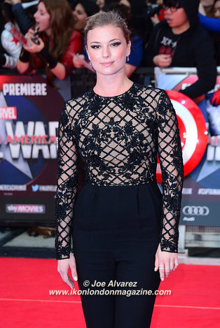 Emily VanCamp The Captain America: Civil War London premiere © Joe Alvarez