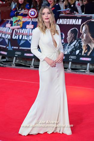 Elizabeth Olsen The Captain America: Civil War London premiere © Joe Alvarez