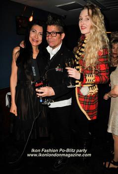 Tamara Orlova-Alvarez and Joe Alvarez Ikon Fashion PoBlitz Party