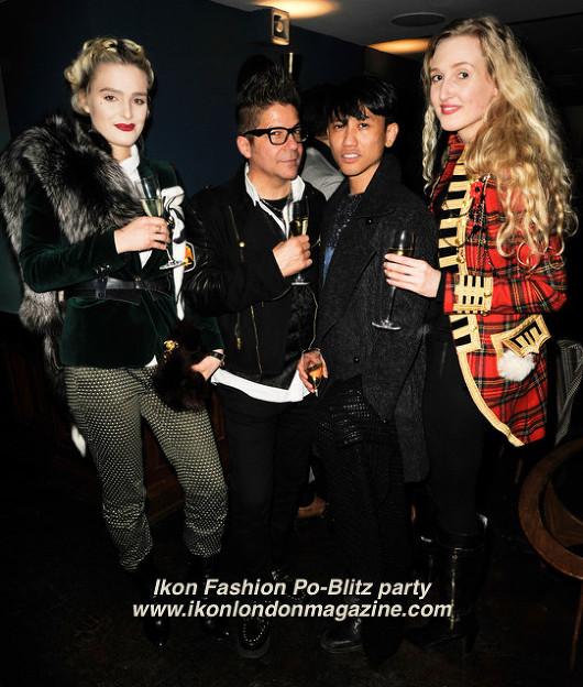 Joe Alvarez, Jasper Garvida, Tamara Orlova-Alvarez Ikon Fashion PoBlitz Party