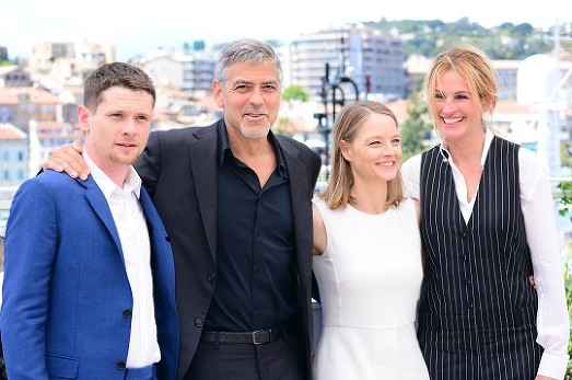 George Clooney, Julia Roberts, Jodie Foster, Jack O'Connell The Money Monster Film Presscall Cannes Film Festival © Joe Alvarez