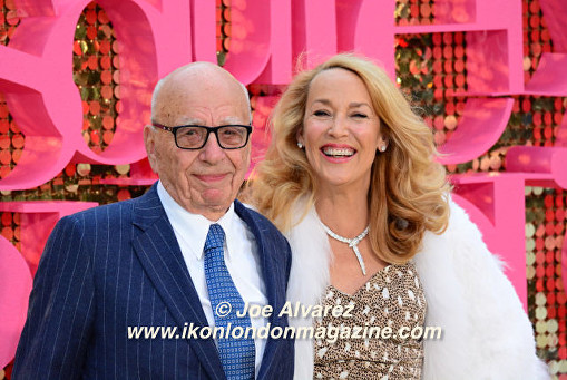 Rupert Murdoch and Jerry Hall Absolutely Fabulous The Movie London Premiere © Joe Alvarez