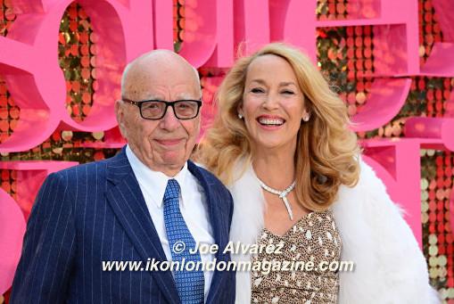 Rupert Murdoch and Jerry Hall Absolutely Fabulous The Movie London Premiere © Joe Alvarez