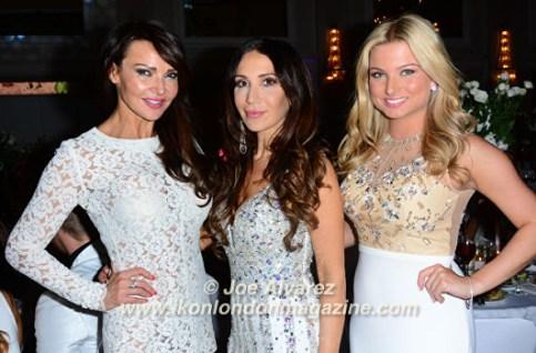 Lizzie Cundy, Antonia Mariconda, Zara Holland White Party Safety in Beauty Awards © Joe Alvarez
