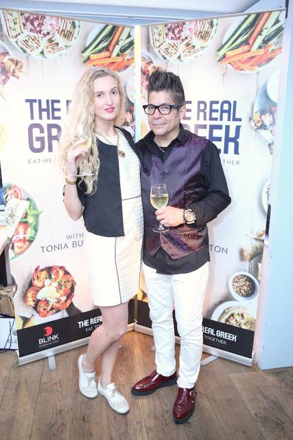Tamara Orlova-Alvarez, Joe Alvarez at the Tonia Buxton cookery book launch © Joe Alvarez