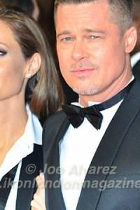 Angelina Jolie and Brad Pitt BAFTAs © Joe Alvarez