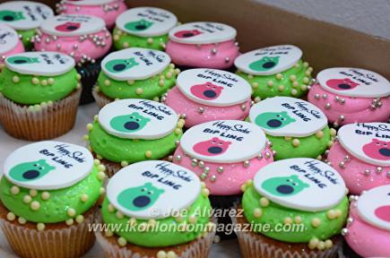 Bip Ling Happy Socks cup cakes © Joe Alvarez