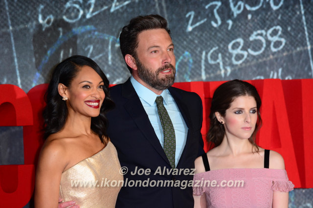 Cynthia Addai Robinson, Ben Affleck, and Anna Kendrick The Accountant Premiere in London © Joe Alvarez
