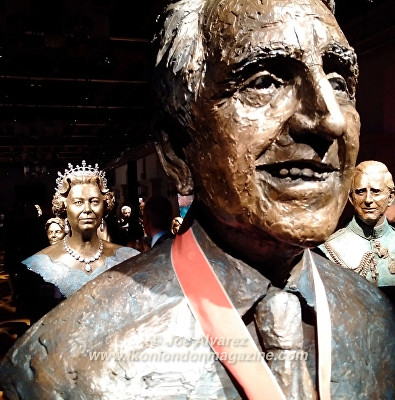 Bust of Prince Philip at Royal Sculptor Frances Segelman Heads at The Tower exhibition © Joe Alvarez