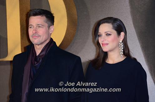 Brad Pitt, Marion Cotillard at the London Premiere of The Allied © Joe Alvarez
