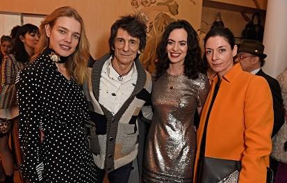 Natalja Vodyanova attends the Stella McCartney Christmas Lights switch on at the Stella McCartney Bruton Street Store on December 7, 2016 in London, England.