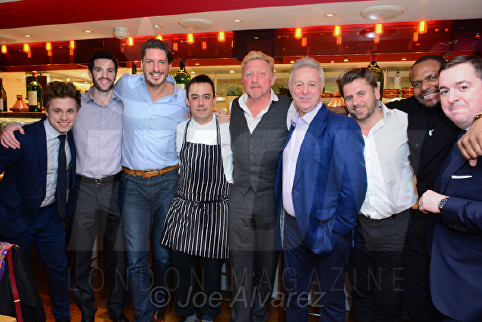 Jason Gale, Boris Becker, David Lloyd Bar Boulud © Joe Alvarez