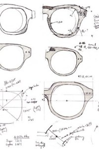 Eyedoo Eyewear sketches by Bob Forgan