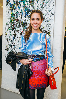 Ariane Belisle at Olga Lomaka gallery launch