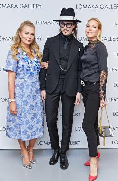 Olga Lomaka, Joshua Kane at Lomaka Gallery Launch Party