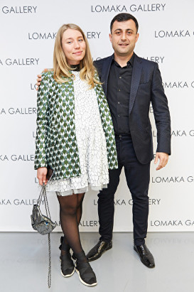 Sasha Burkhanova, Sultan Khabadze at Olga Lomaka gallery launch